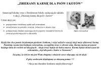 Czytaj więcej: Zbiórka karmy dla psów i kotów